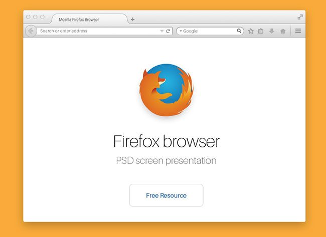 Firefox Web Browser Template Psd Web Browser Mockup Templates