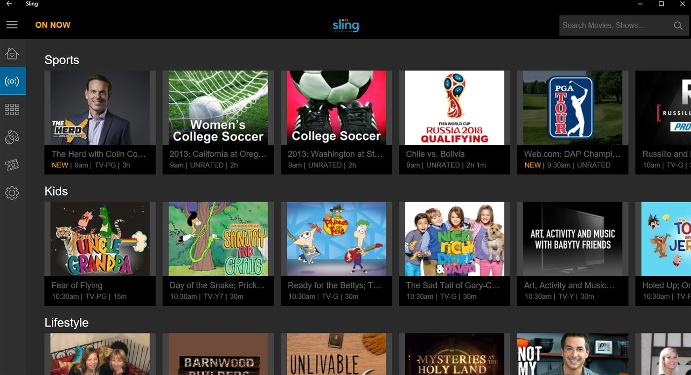 Sling TV launches a native Windows 10 app with Cortana