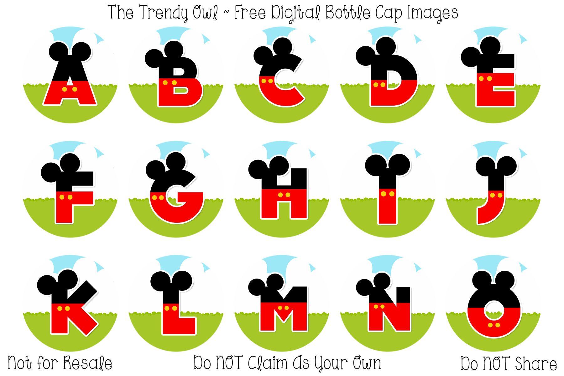 Letras De Mickey Mouse Mickey Alphabets Dibujos Para Colorear