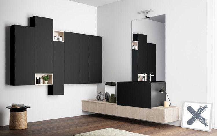 Progetto 2: anche in bagno gli stessi materiali di cucina e living ...