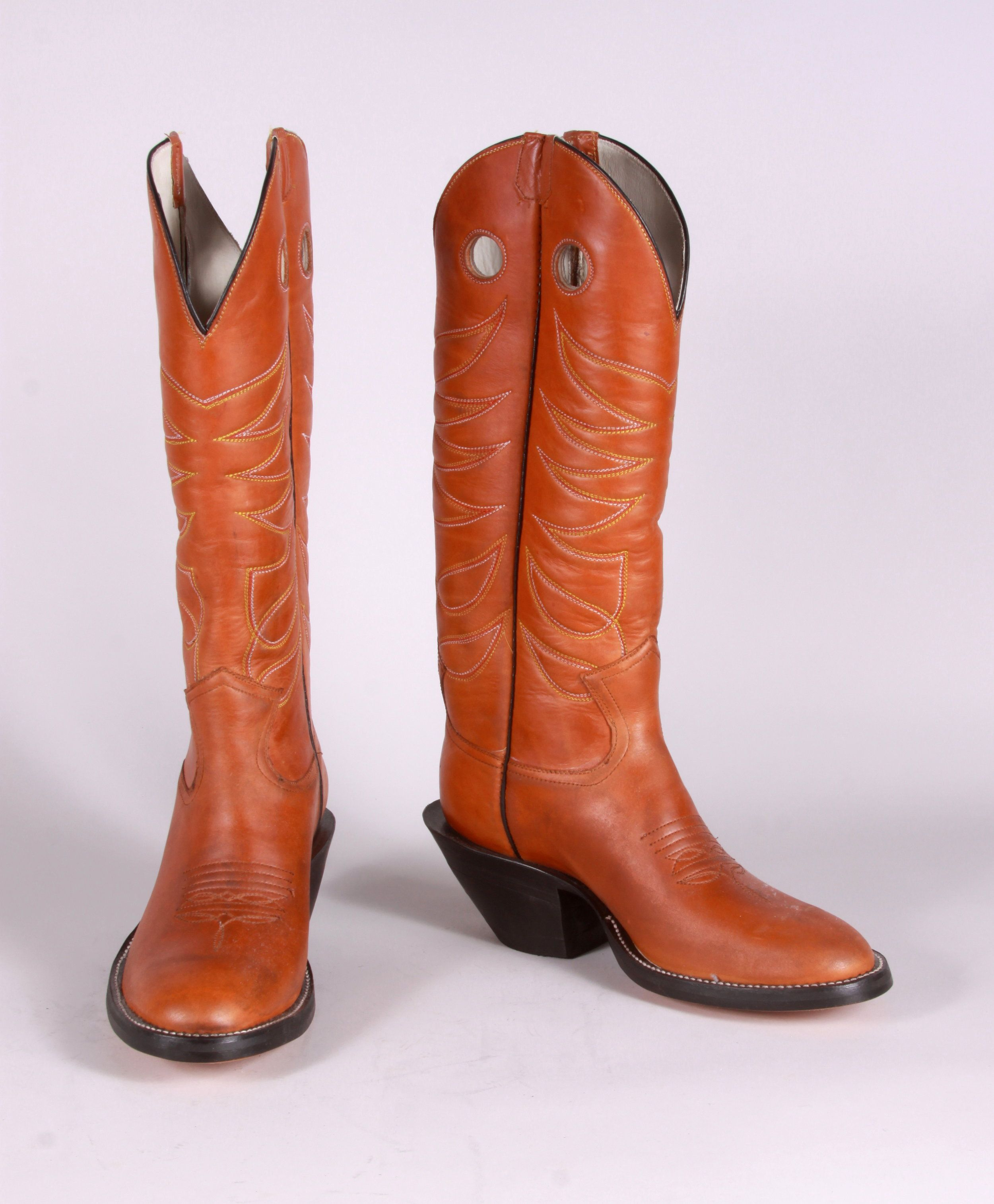 72458c8a61f 650 Unforgiven Buckaroo Working Cowboy Boots. Round Wellington Toes ...