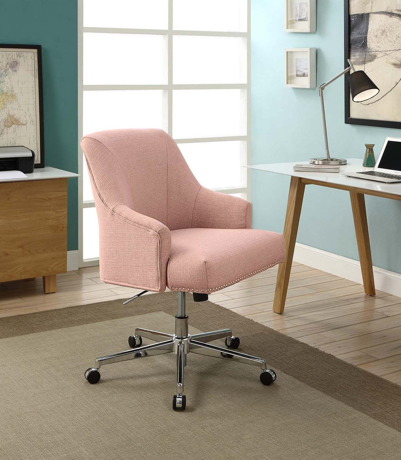 Serta Style Leighton Home Office Chair Twill Fabric Blush Pink More Info Could Be Found At The Imag Office Chair Design White Office Chair Desk Chair Comfy