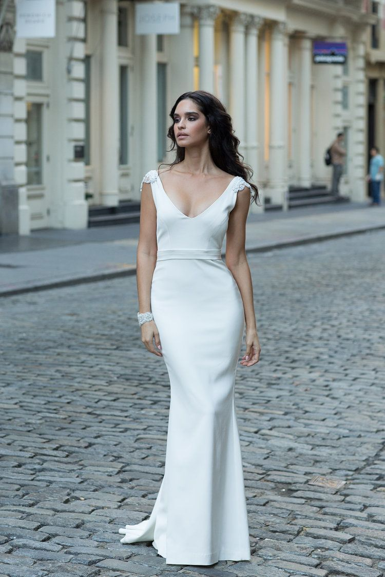 Anna Campbell beaded wedding dress | Second Change of the Night ...