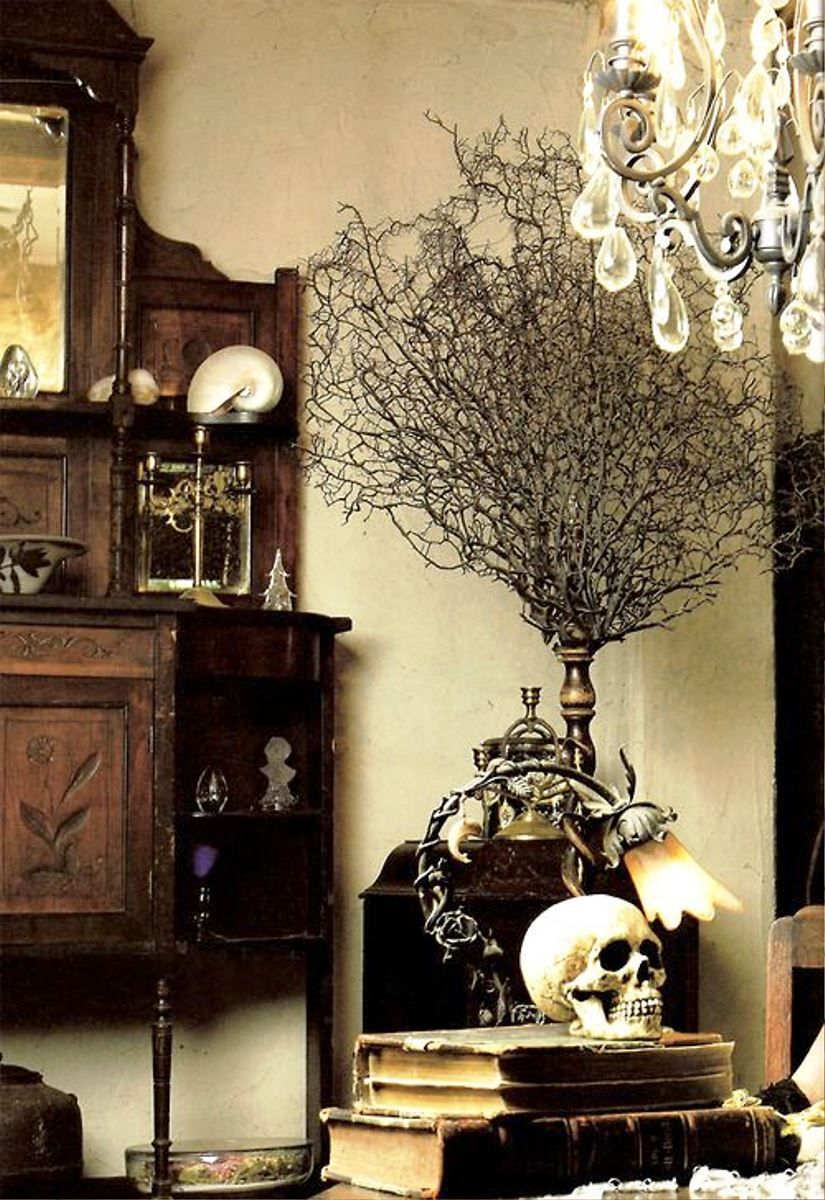 Gothic Home Office And Library Ideas - Real House Design home - Halloween Office Decorations Ideas
