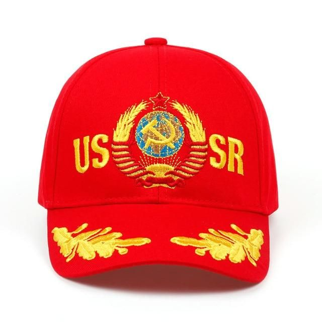 0177526eac7 2018 brand USSR Baseball Cap Unisex Cap embroidery Russian CCCP Cap 100% COTTON  fashion adjustable