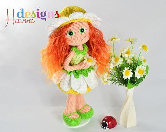 Crochet Pattern Daisy Doll Amigurumi Doll Pattern Hobby