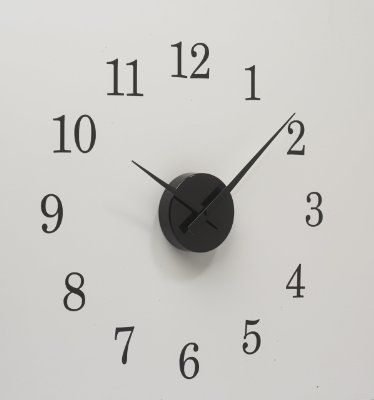 Addon Art 15 Wall Decal Clock Real Clock Movement with Numeric