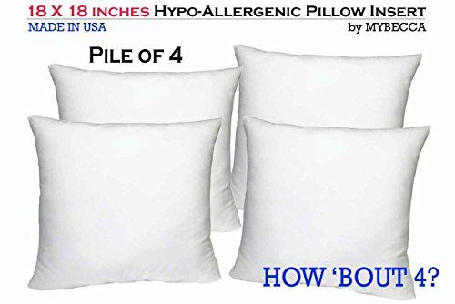 Pile Of 4 By Mybecca Square Poly Pillow Insert Sham Stuff Https Www Amazon Com Dp B01es8qilo Ref Cm Pillows Pillow Forms Bed Pillows Decorative