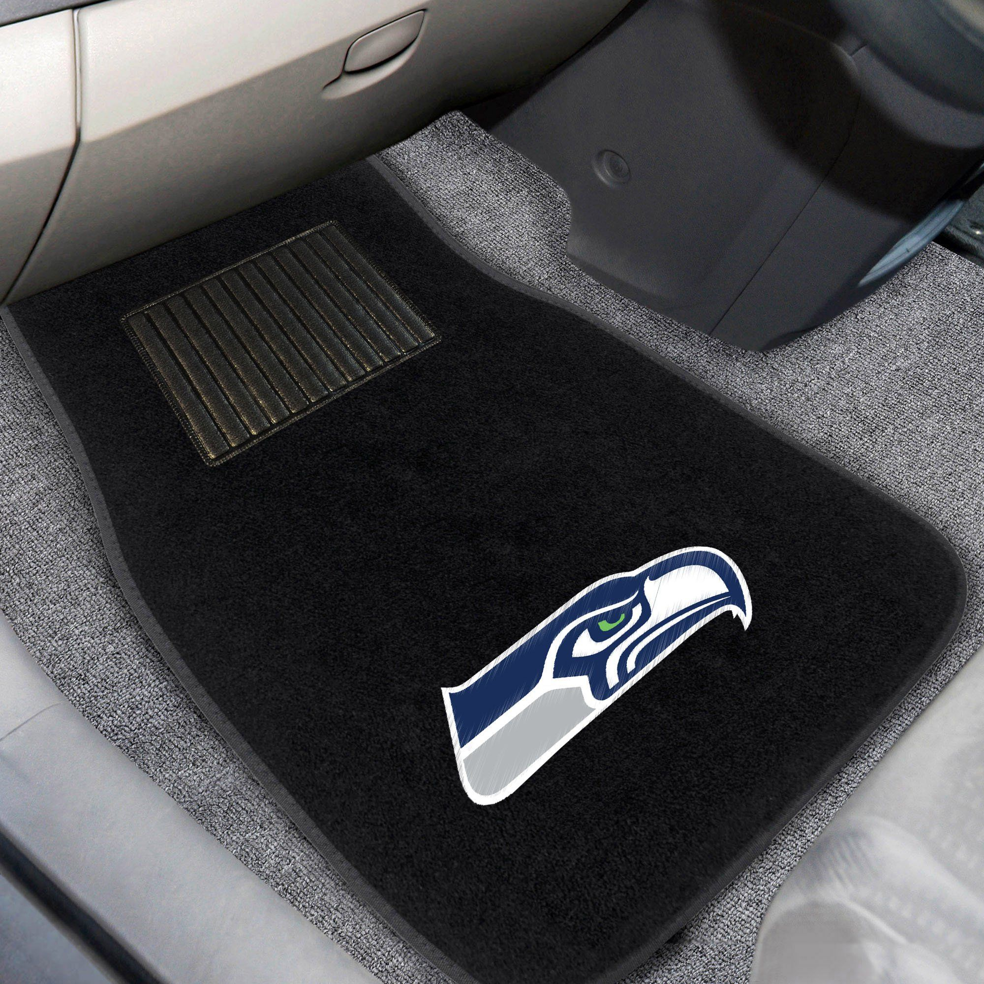 NFL - Seattle Seahawks 2-pc Embroidered Car Mats 18\