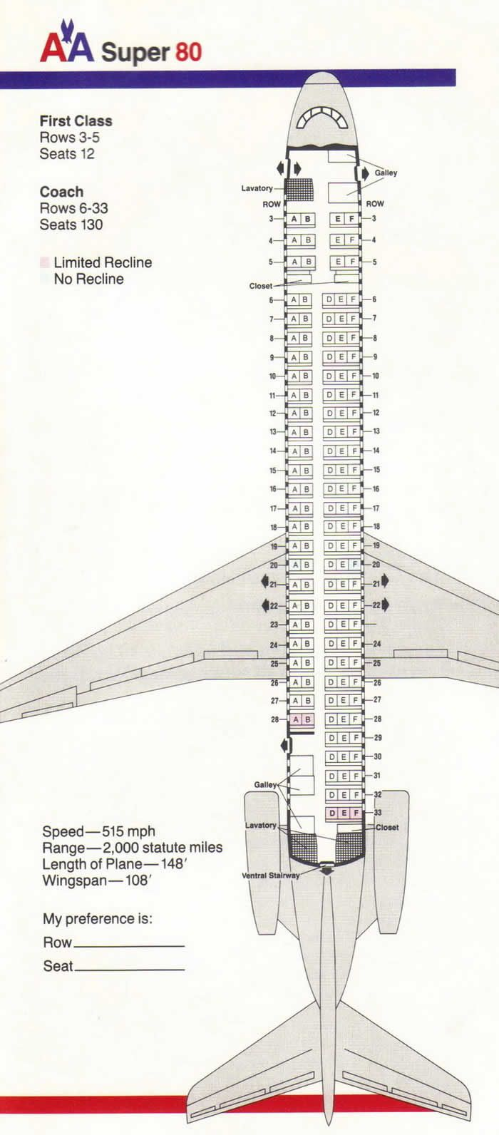 Aa Super 80 Vintage Airline Seating Charts Pinterest Aviation Small Boat Wiring Diagram For Aircraft And Plane