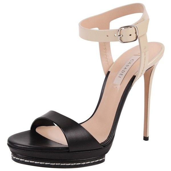 Casadei Platform Sandal ($850) ❤ liked on Polyvore featuring shoes, sandals, nero, platform sandals, casadei sandals, casadei, toe strap sandals and casadei shoes