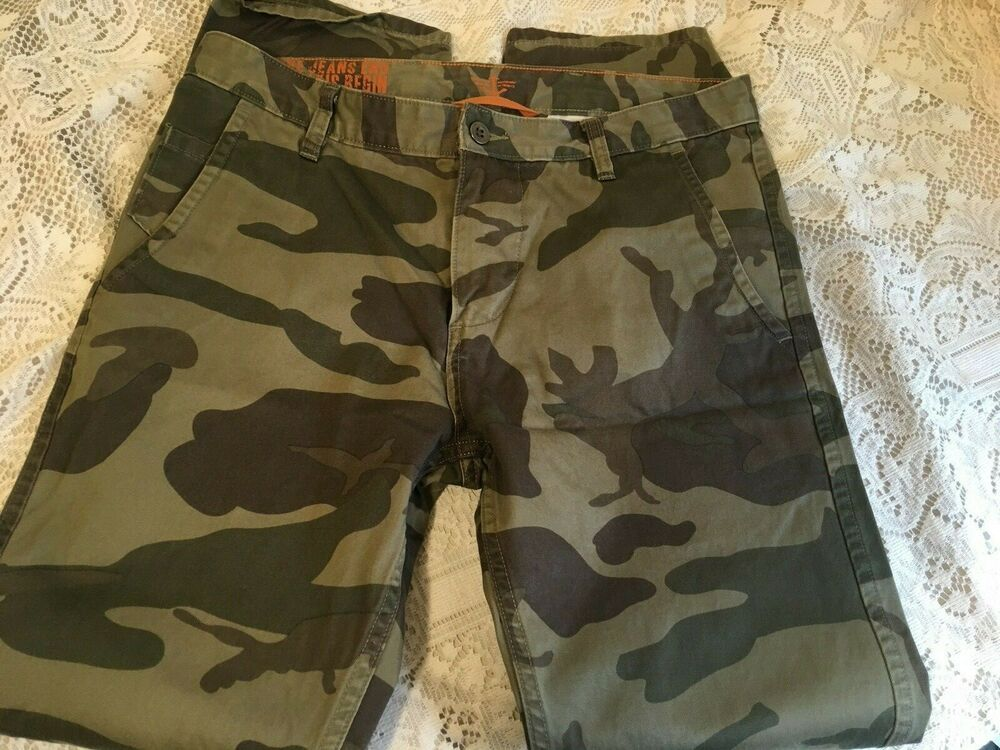 e8b7124a (eBay Sponsored) Levi Dockers mens pants Alpha Slim camo green brown khakis  cotton Sz