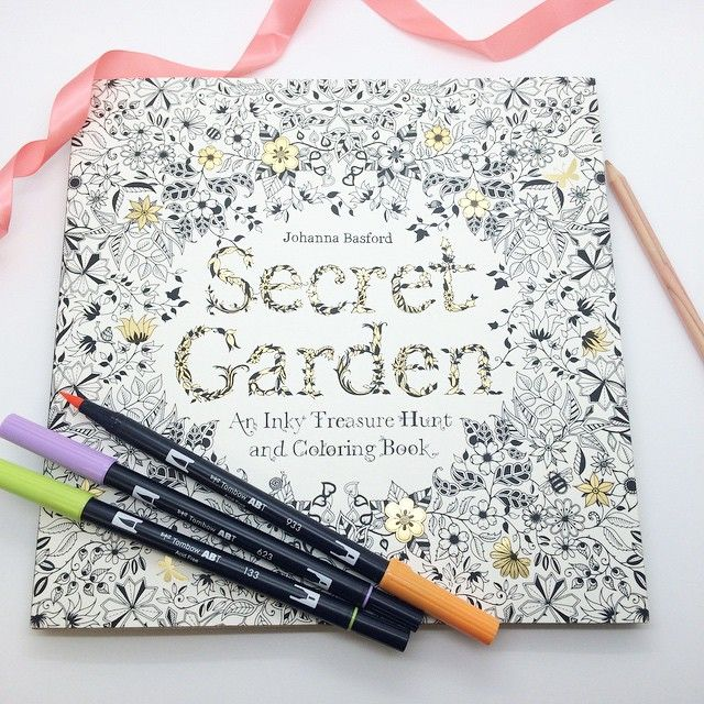 Tombow Secret Garden Coloring Book An Adult Match Made In Heaven