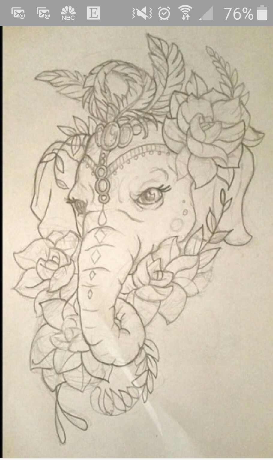 Elephant Face 1 With Images Elephant Drawing Elephant Tattoos Elephant Tattoo Design