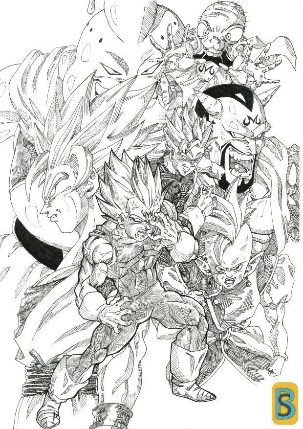 Buu Saga Dragon Ball Super Art Dragon Ball Z Dragon Ball