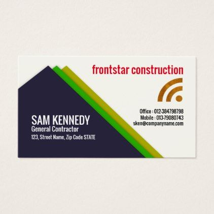 Elegant Creative Triangle Contractor Business Card Office Gifts Giftideas