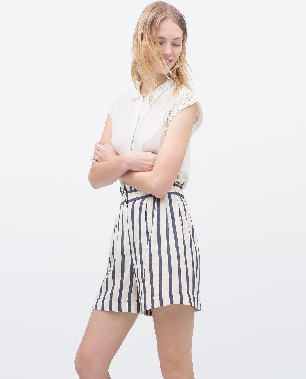código promocional 6f94b 50c72 SAILOR SHORTS-Trousers-WOMAN | ZARA United States | Bermudas ...