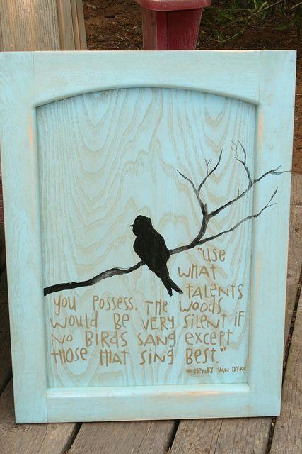 Pássaro em preto