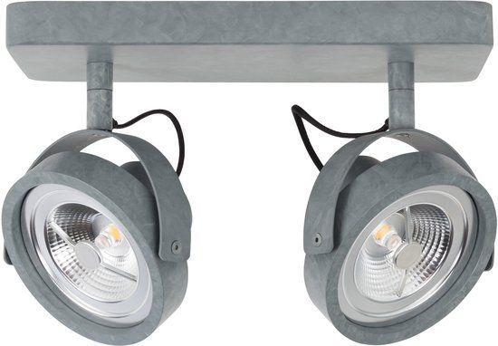 Keuken Spotjes Opbouw : Zuiver spot light dice led galvanised spotjes grijs