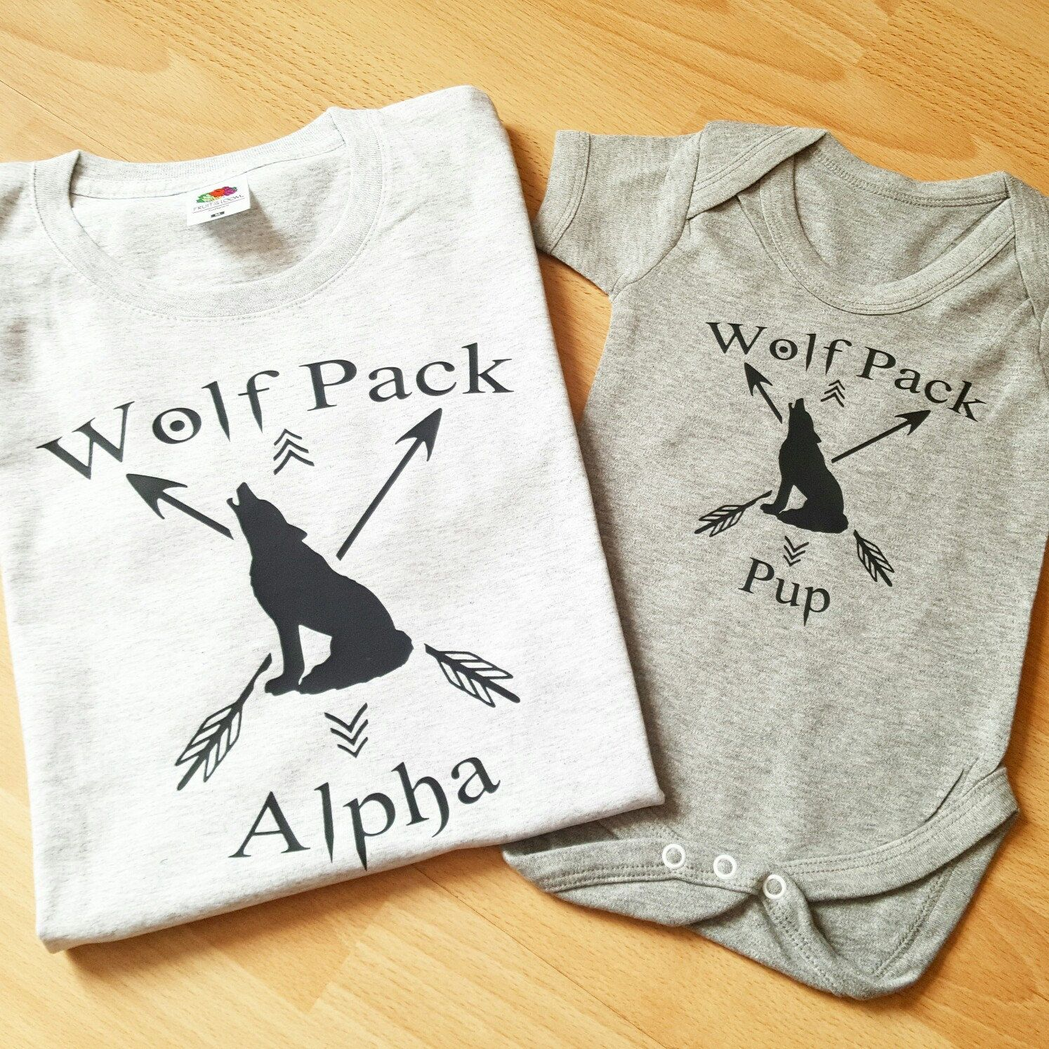 Wolf Pack Family Matching Father Son T Shirts Daddy Daughter Gift