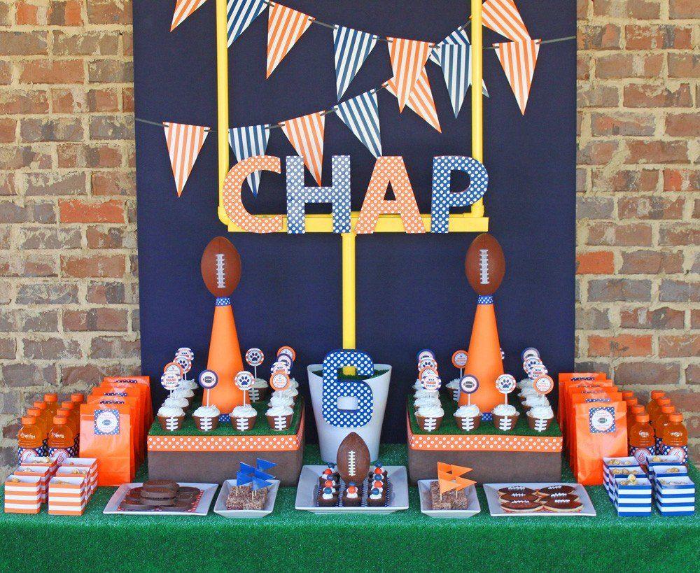 A Football Party Nfl season Themed birthday parties and Birthdays
