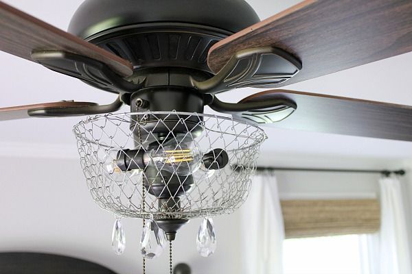 A broken ceiling fan is made over into a stunning piece of