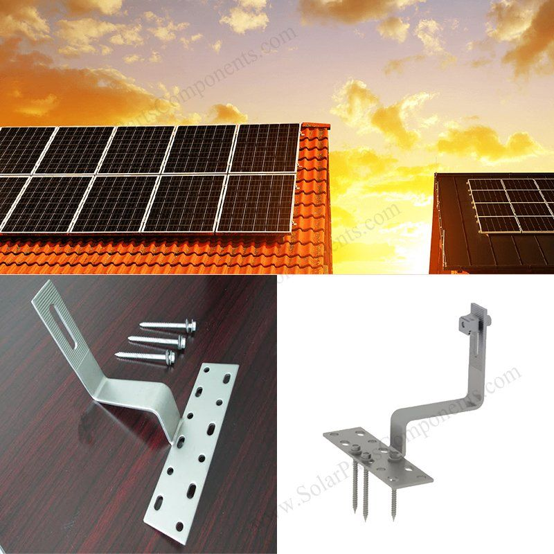 Stainless Steel SUS 304 Solar Panel Mount Roof Hook in