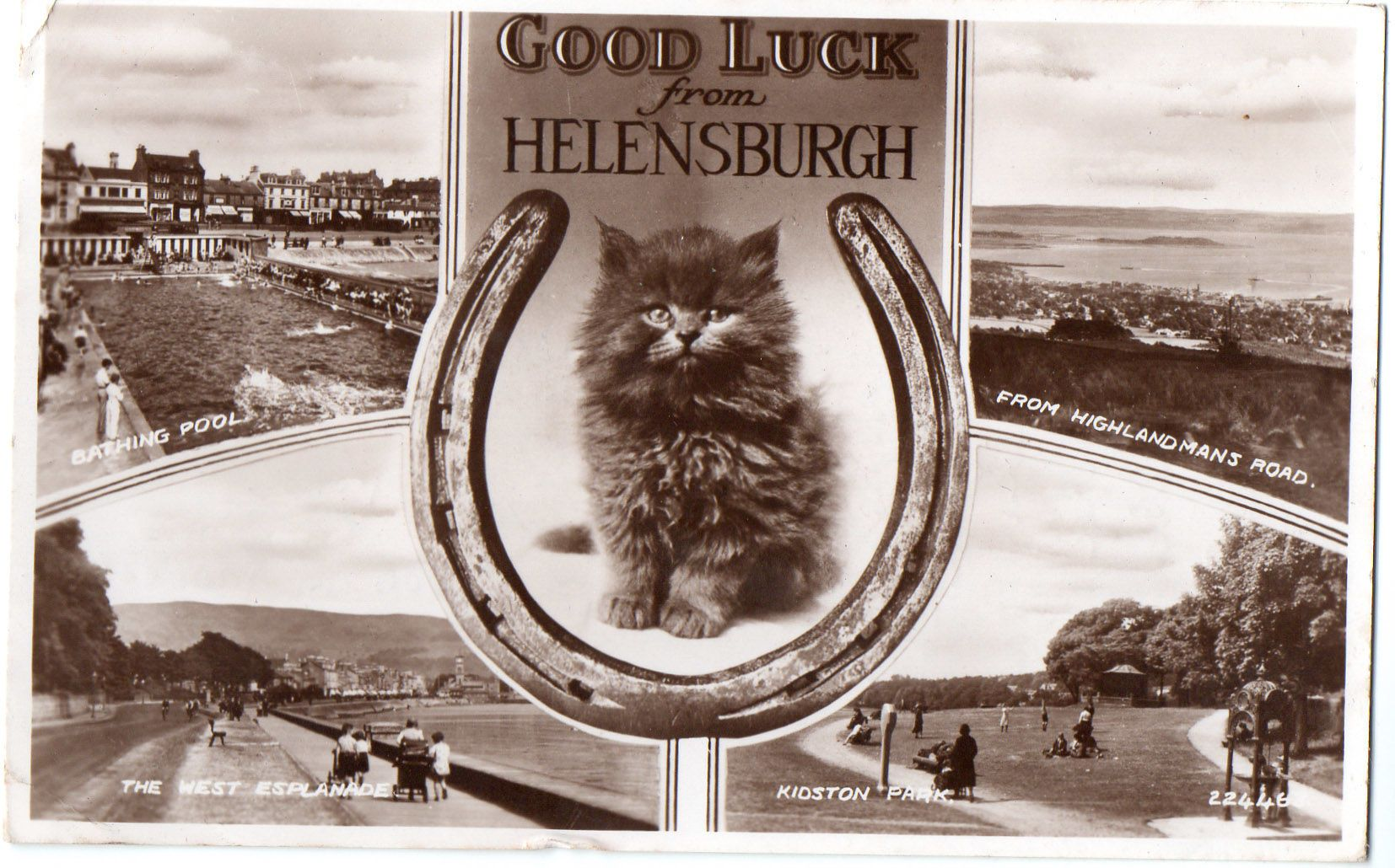 Valentines Multiview Postcard Goodluck from Helensburgh