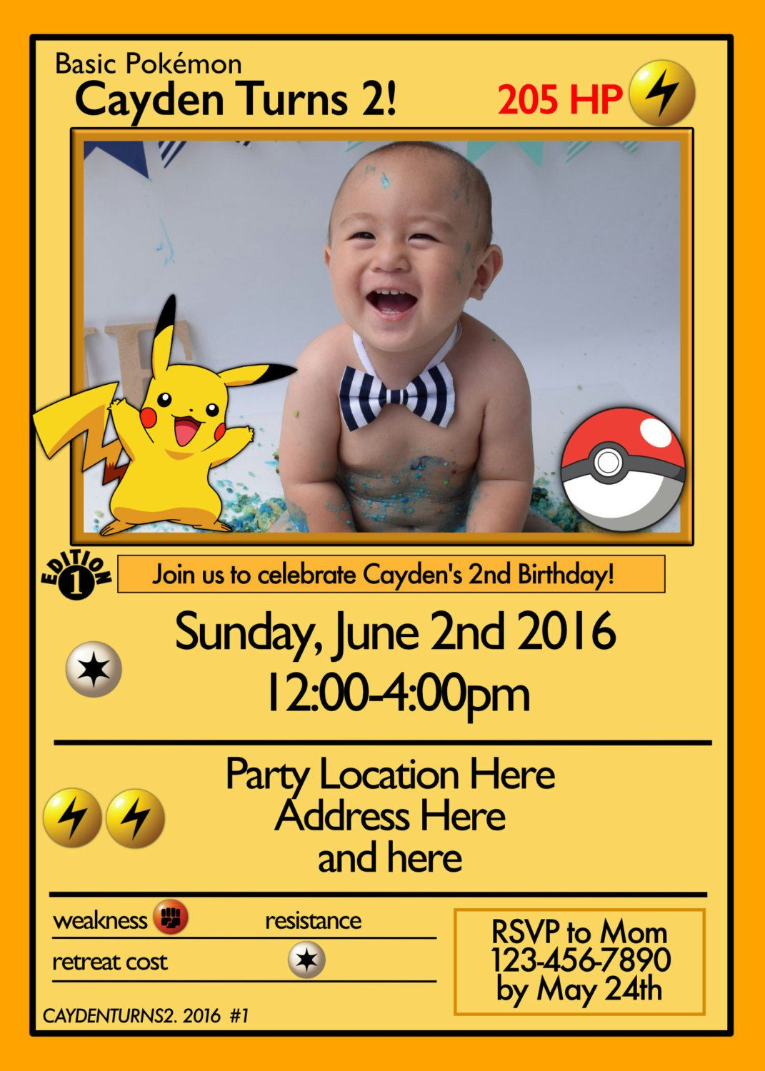 pokemon card invitation pokemon