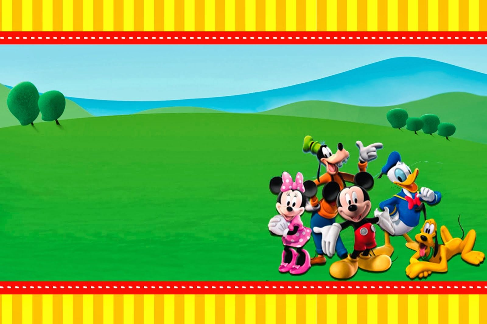 Beautiful Mickey Clubhouse: Invitations And Party Free Printables.