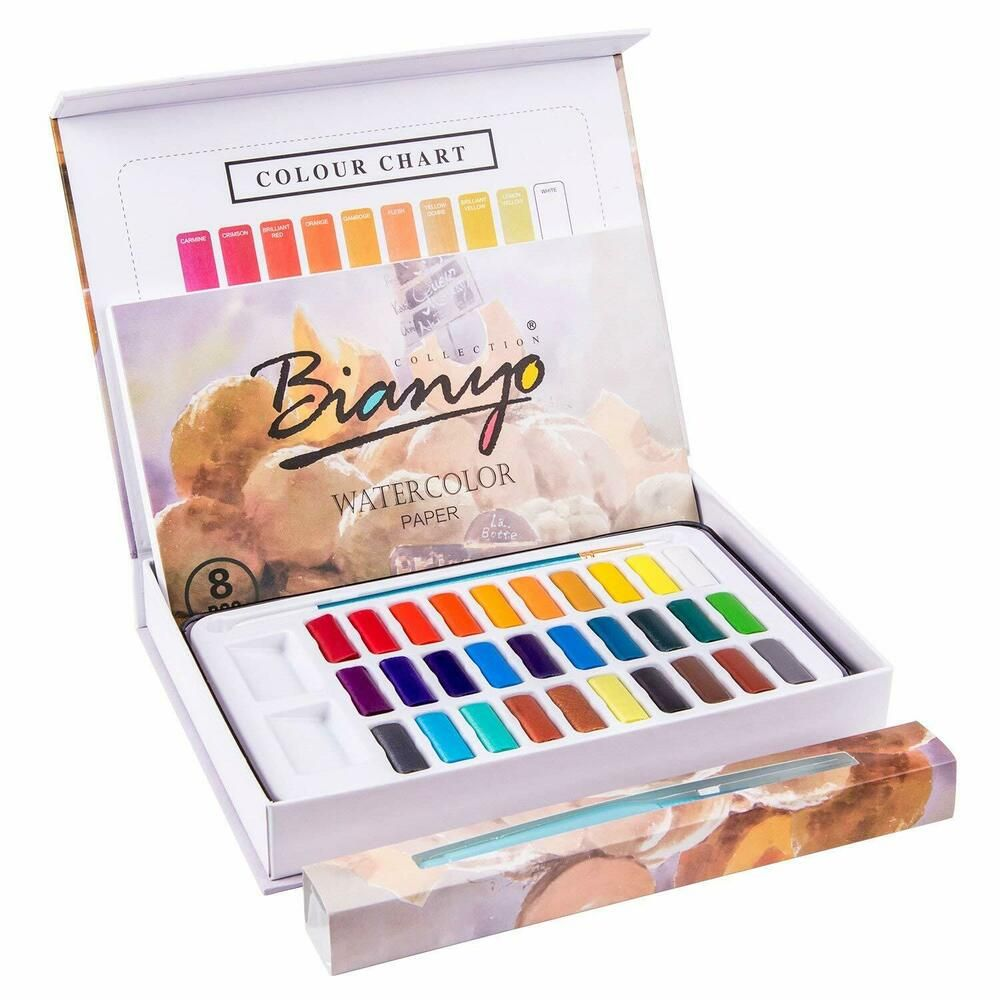 Professional Watercolor Set 30 Color Artist Palette Paint Coloring