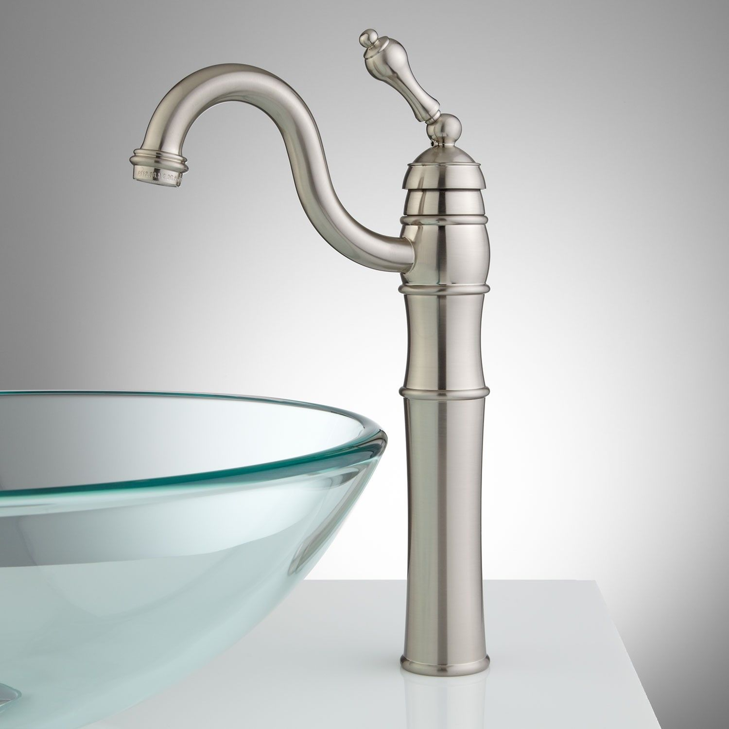 Trevena Single Hole Vessel Faucet With Swivel Spout And Pop Up