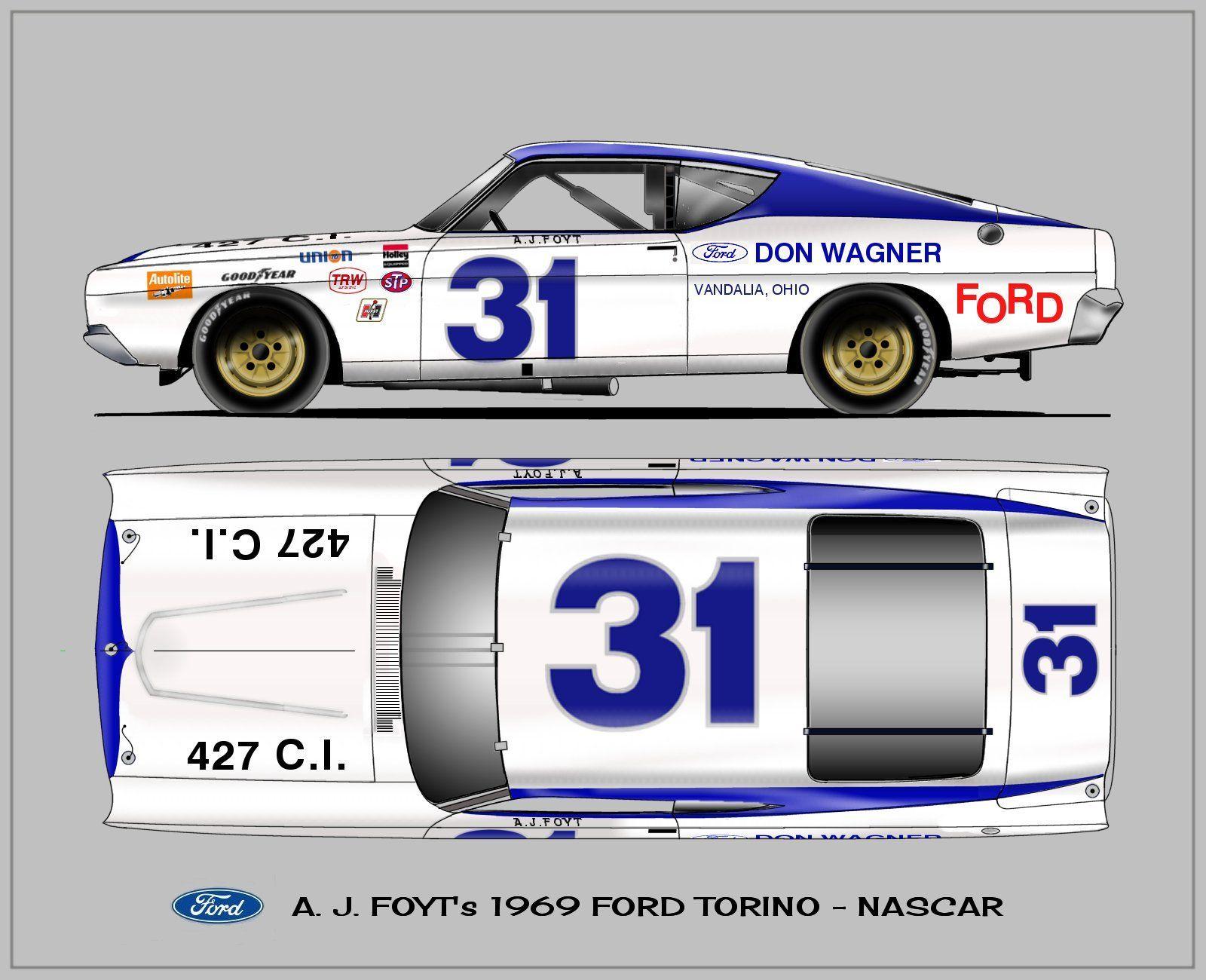 Ford Torino AJ Foyt NASCAR   Muscle Cars   Pinterest   Lkw und ...