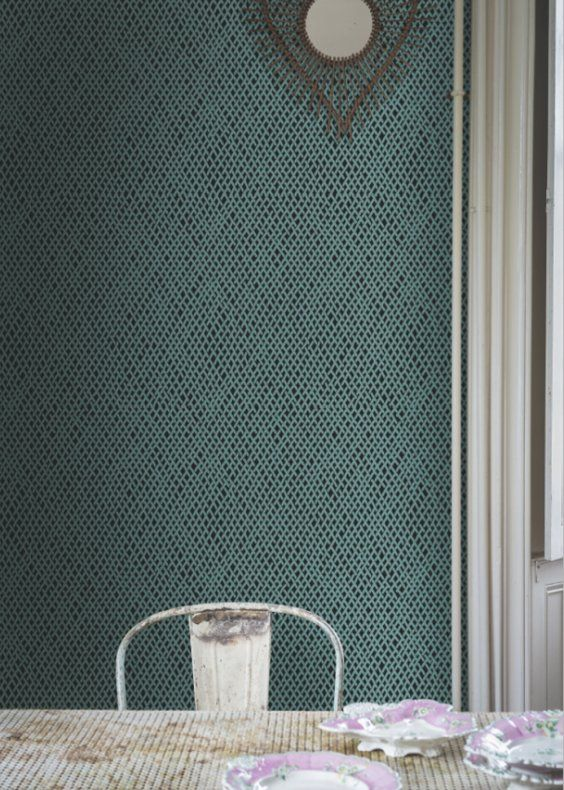 Inspiration papier peint trompe l 39 oeil ou effet mati re marie claire maison rev tements - Papier peint effet matiere ...
