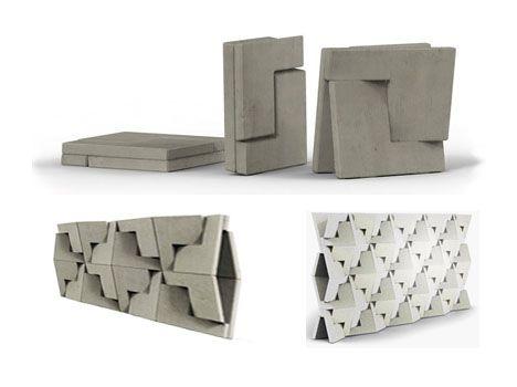 Folding Concrete Flat Pack Building Blocks Of The Future Building Blocks Design Concrete Design Building Blocks