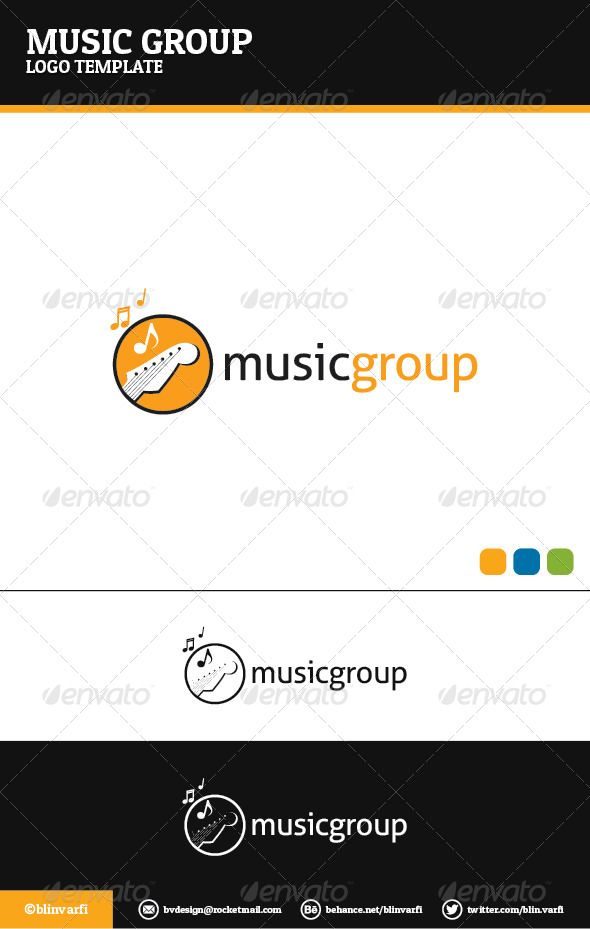Music Group Logo Template | Logo templates, Template and Logos