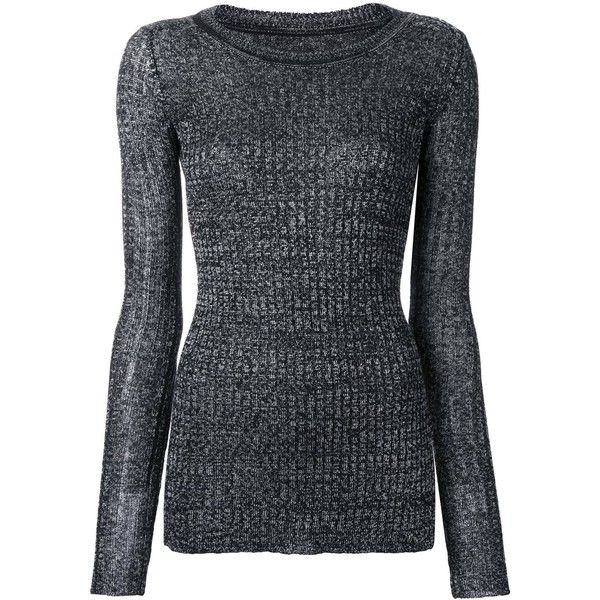 Isabel Marant fitted sweater (4.005 HRK) ❤ liked on Polyvore featuring tops, sweaters, grey, gray sweater, grey sweater, ribbed top, isabel marant top and fitted sweater