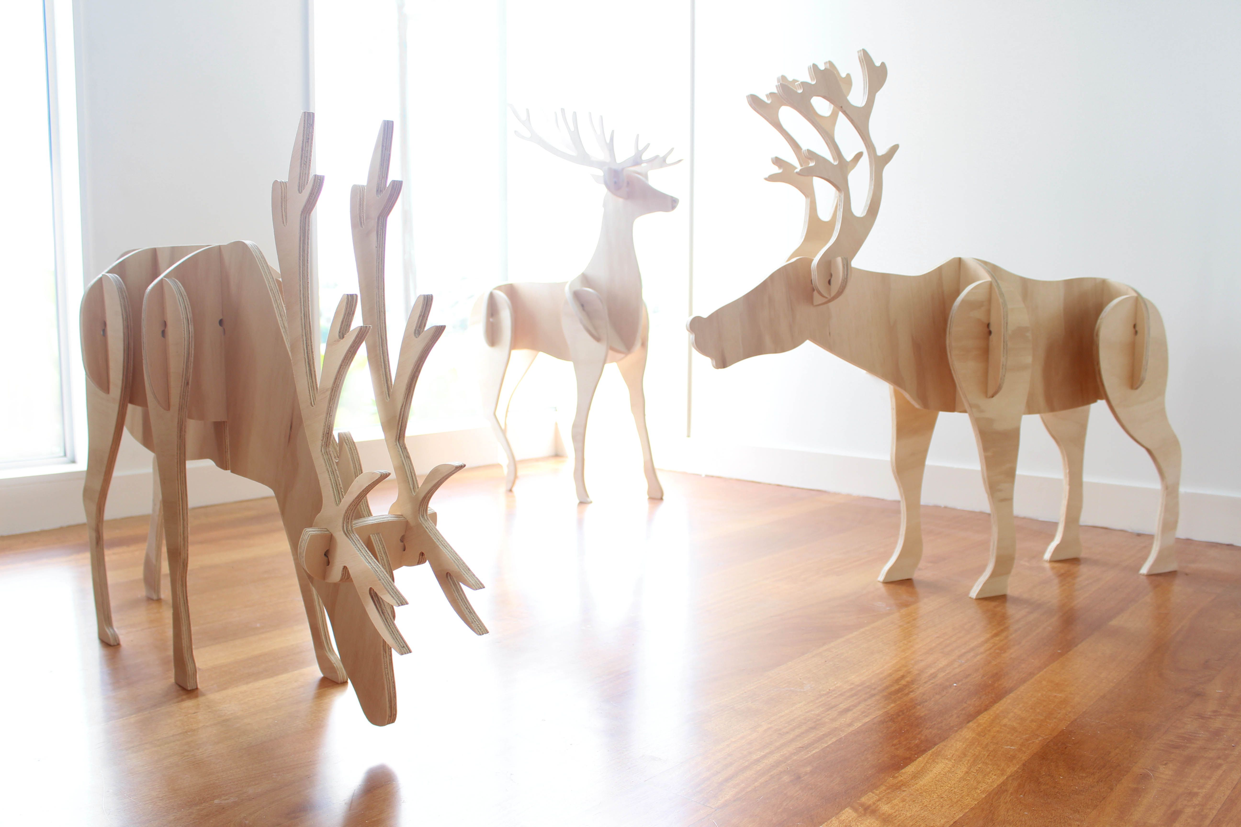 Plywood Reindeer, Christmas, Decorations, Xmas, Ply, Timber, Deer, Holiday  Season, New Zealand. | Cnc Work | Pinterest | Plywood, Xmas And Decoration