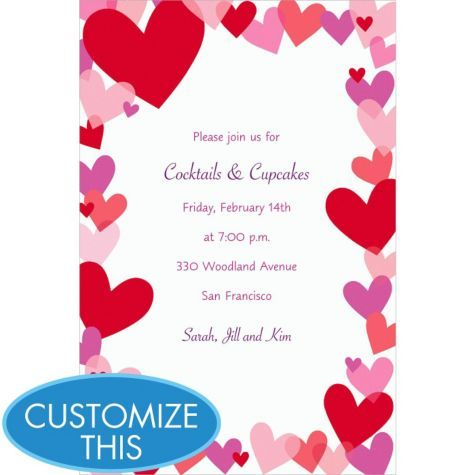 Hearts Custom Valentines Day Invitation - Valentines Day Invitations - Valentines Day - Holiday Parties - Categories - Party City