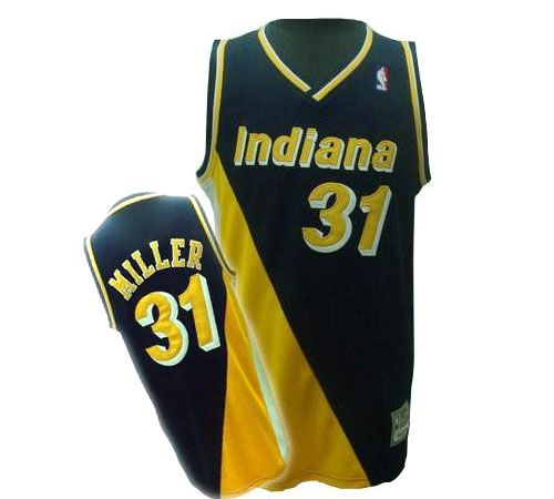 Reggie Miller jersey-Buy 100% official Mitchell and Ness Reggie Miller  Men s Authentic Black Yellow Jersey Throwback NBA Indiana Pacers  31 Free  Shipping. f70df6680