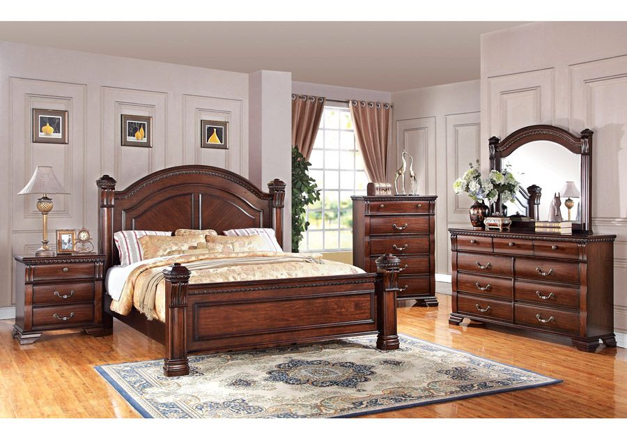 Isabella Dark Pine 5 PC Queen Bedroom | Bedroom Sets ...