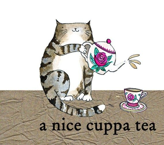 Items similar to A nice cuppa tea on Etsy #cuppatea
