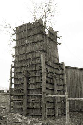Square Wooden Silo