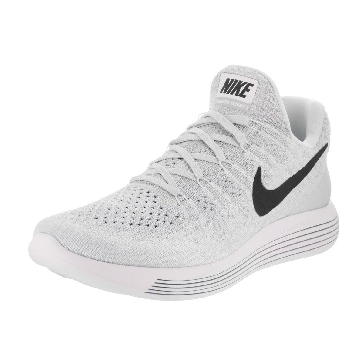Nike Women's Lunarepic Low Flyknit 2 White/Black/Pure Platinum Running Shoe  9 Women US, Size: 9 Medium