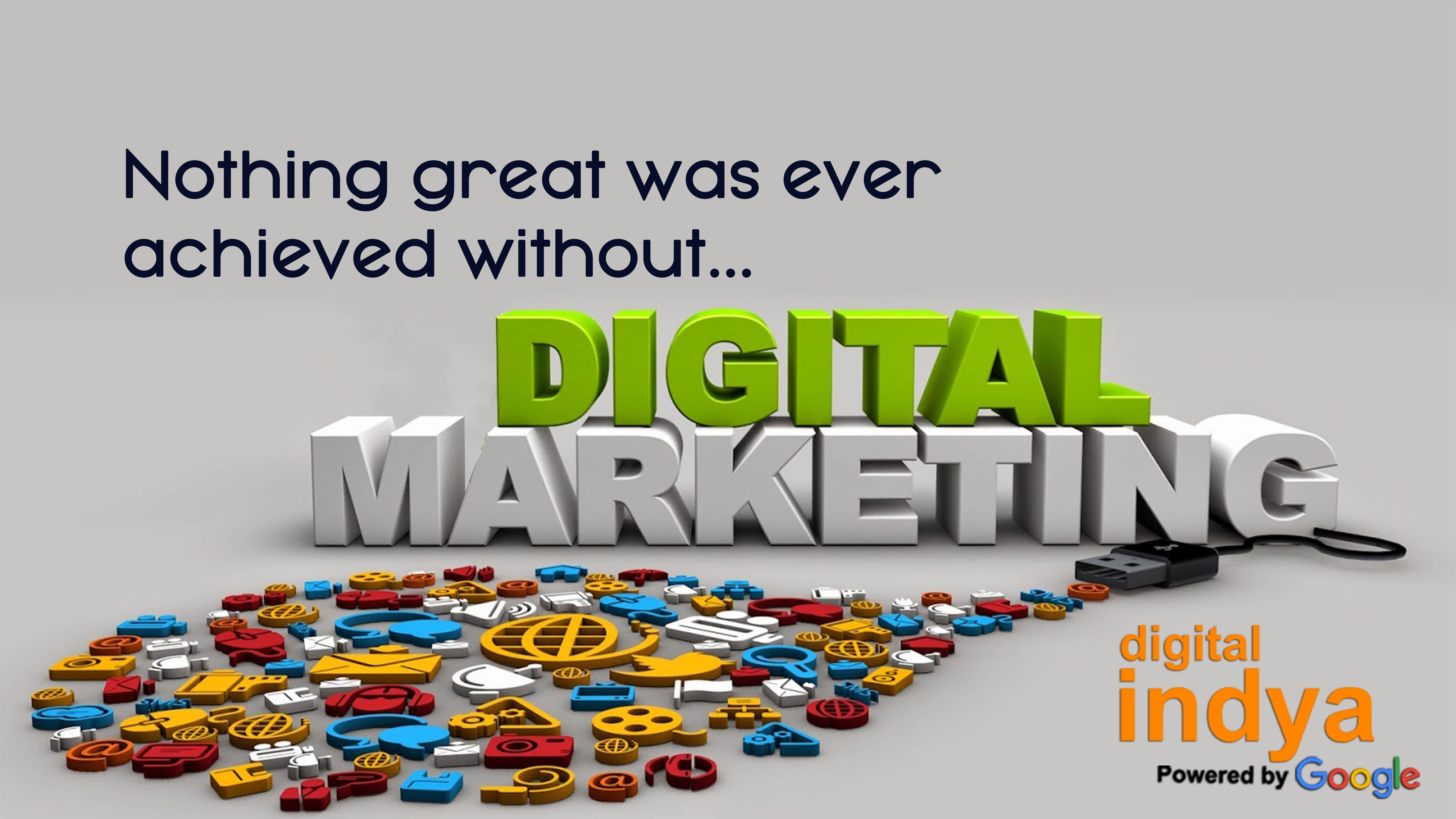 At #DigitalIndya Digital Marketing is an umbrella for the marketing of products or services using digital technologies.