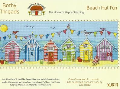 Bothy Threads Beach Hut Fun Counted Cross Stitch Kit