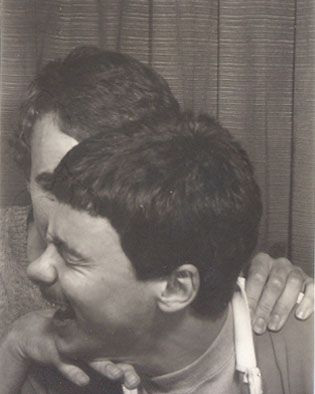 Photo booth-Andrew and Alan 1980...