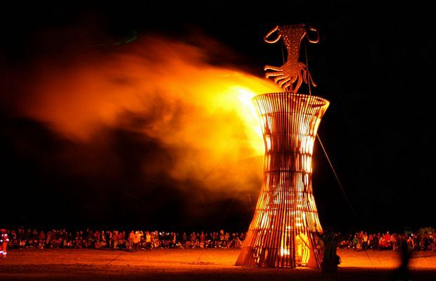 One Of The Creations Being Set Alight At Afrikaburn 2012 Photo
