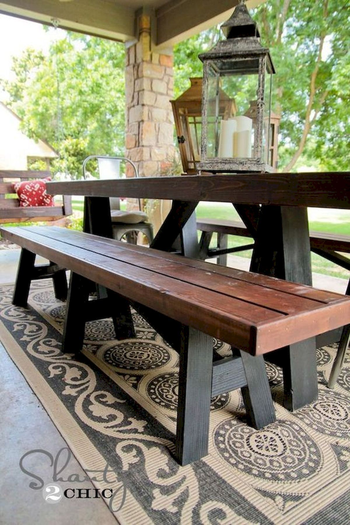 40 fantastic outdoor bench ideas for backyard and front