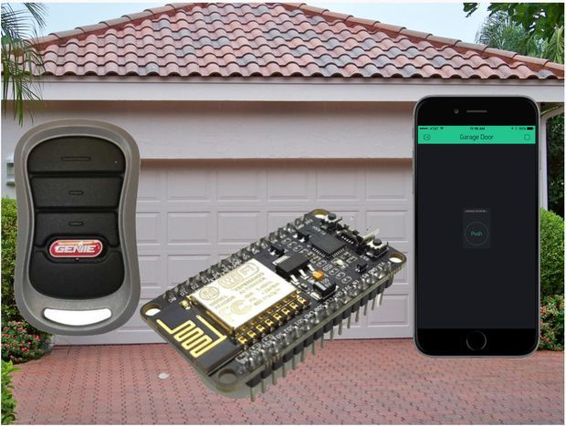 Iphone Android 8266 Arduino Blynk Garage Door Opener In 2020 Garage Door Opener Garage Doors Garage Door Remote